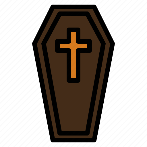 coffin, gead, ghost, grave, halloween icon