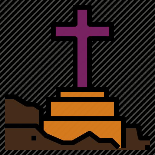 dead, graveyard, halloween, scary icon