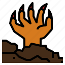 evil, halloween, hand, monster, undead, witch, zombie icon