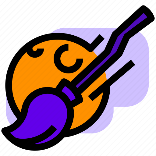 broom, halloween, moon, witch icon