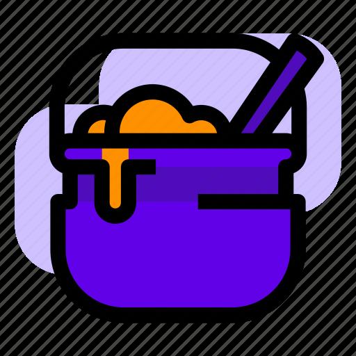 brew, cauldron, halloween, potion icon