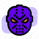 friday, halloween, jason, mask icon