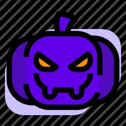 halloween, pumpkin, scary icon