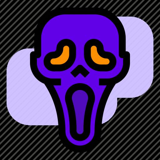 halloween, killer, mask, scream icon