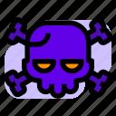 bones, halloween, roger, skull icon