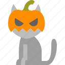 cat, halloween, horror, monster, pumpkin, scary, spooky icon