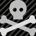 bones, dangerous, halloween, horror, pirate, skull icon