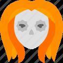 doll, girl, sugar skull icon