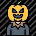 halloween, horror, pumpkin, pumpkin head
