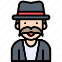 halloween, oldman, top hat, tophat icon