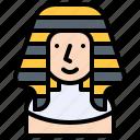 egypt, halloween, king, man, pharaoh icon