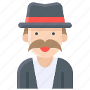 halloween, oldman, top hat, tophat, tuxedo icon