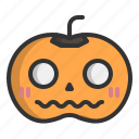 ghost, horror, jack o'lantern, halloween, scary, pumpkin
