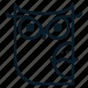animal, bird, halloween, horror, midnight, owl, scary icon