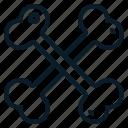 bone, cross, danger, skeleton icon