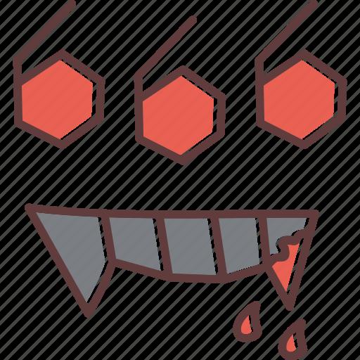 blood, devil, dracula, fangs, horror, satan, suck icon
