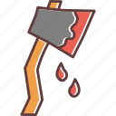 axe, blood, hatchet, horror, killer, murder, violence icon
