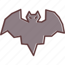bat, halloween, horror, scary, spooky icon