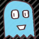 friendly, ghost, halloween, casper, haunt, pacman, spirit