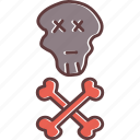 bones, crossbones, danger, death, jolly roger, pirates, skull icon