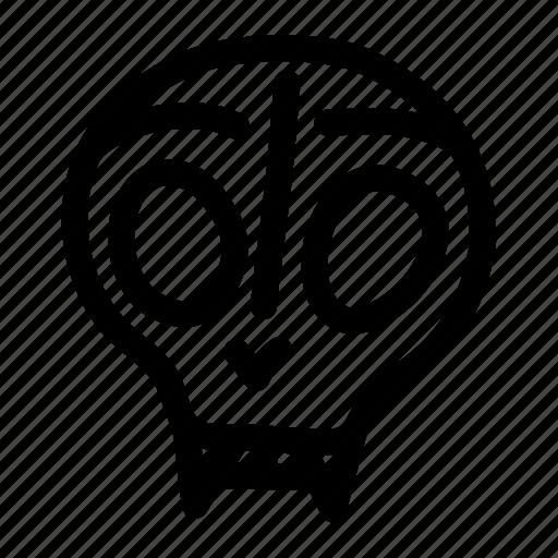 animal, cat, dead, head, skull, spooky icon