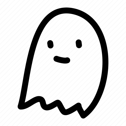 Adorable, cute, ghost, halloween icon