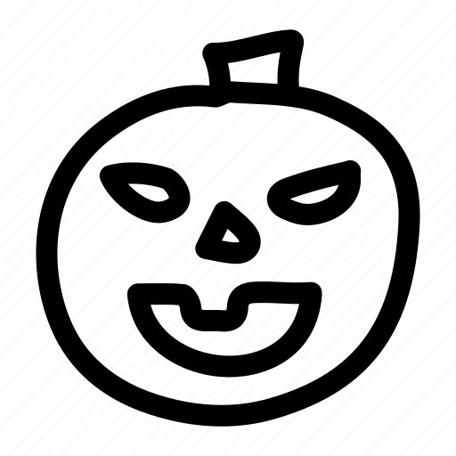 carved, halloween, pumpkin, smile icon