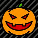 face, halloween, horror, pumpkin, scary