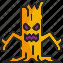 tree, monster, spooky, halloween, evil