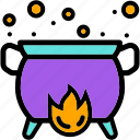 pot, halloween, magic, witch, scary icon