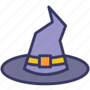 wizard, witch, hat, magic