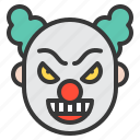 character, clown, halloween, horror, monster, scary, spooky icon