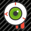 eye, eye ball, halloween, horror, scary, spooky icon