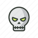 design, festival, gost, halloween, head, holiday, skull icon