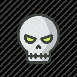 design, festival, gost, halloween, head, holiday, skull icon