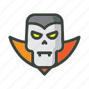 dracula, festival, ghost, halloween, head, horror, trik or treat icon