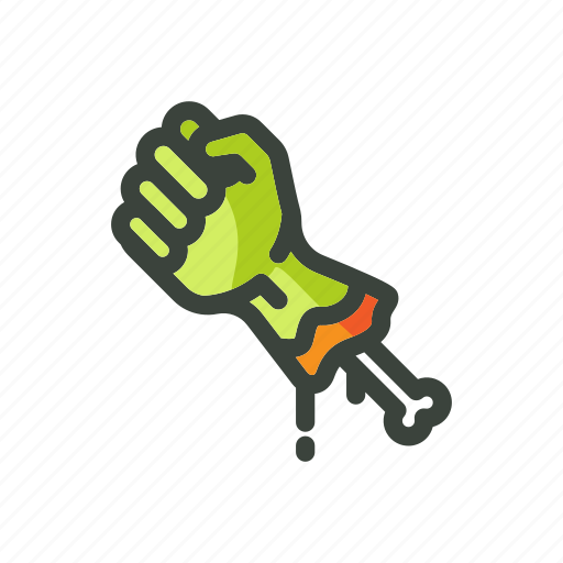 festival, green, halloween, hand, horror, zombie icon