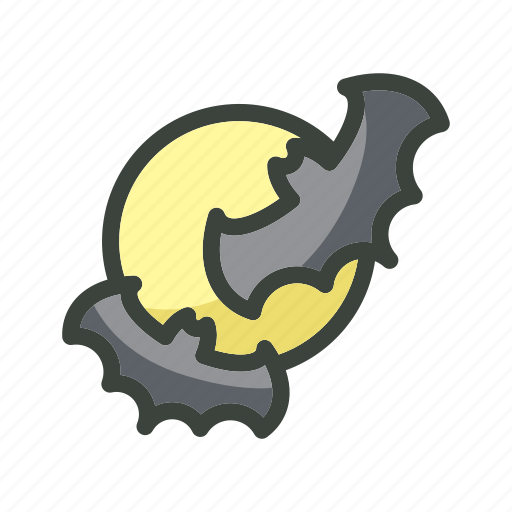bat, festival, halloween, holiday, horror, moon icon