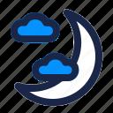 cloud, half, halloween, horror, moon, night, sleep icon