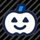 festival, halloween, holiday, horror, pumpkin, scary, vegetable icon