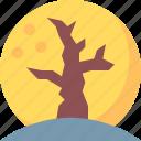 dry, halloween, moon, night, tree icon