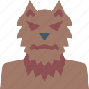 ghost, halloween, horror, monster, scary, spooky, werewolf icon