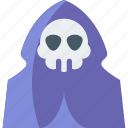 death, ghost, halloween, horror, scary, skull, spooky icon