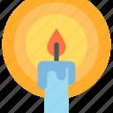 candle, halloween, light, night icon