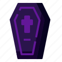 coffin, burial, death, grave, halloween, casket icon