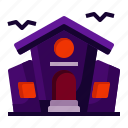 building, halloween, haunted, horror, house, scary, spooky icon