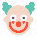character, clown, halloween, horror, scary, spooky icon