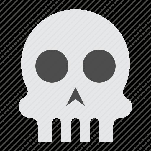 bone, halloween, horror, scary, skull, spooky icon