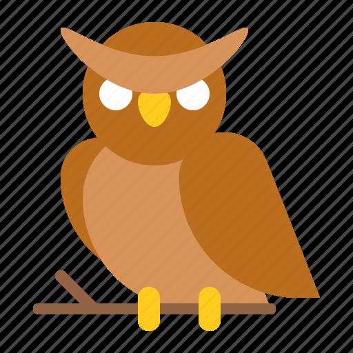 animal, bird, halloween, horror, owl, scary, spooky icon