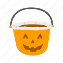 halloween, holidays, horror, pumpkin, pumpkin basket, spooky icon